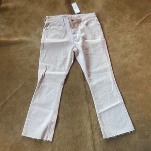 Pink and White pin strip NEW Good American jeans!!